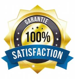 Satisfaction garantie à 100%<br/>ou argent remis